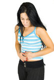 Stomach ache Royalty Free Stock Photography