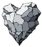 Stone heart Royalty Free Stock Photos