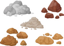 Stone and rock collection Stock Photo