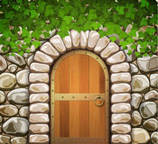 Stone wall with arch Stock Photography