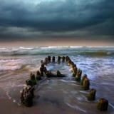Storm o the sea Stock Photo