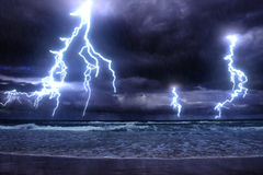 Storm on sea Stock Images