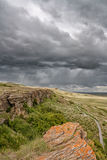 Stormy Sky at Head-smashed-in Royalty Free Stock Photo
