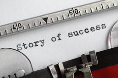 Story of success Royalty Free Stock Photos