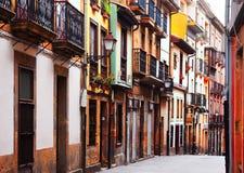 Straße am historischen Teil von Oviedo Stockbild