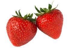 Strawberry pair Royalty Free Stock Photo