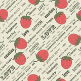 Strawberry repetition Stock Photos