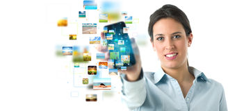 Streaming mobile phone banner Stock Image