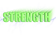 Strength 3D Royalty Free Stock Photography
