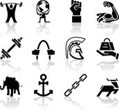 Strength Icon Set Series Design Elements Royalty Free Stock Photo