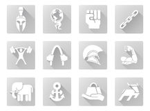 Strength icons Royalty Free Stock Photo