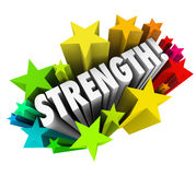 Strength Stars Word Strong Competitive Advantage Royalty Free Stock Photos