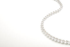 String of white pearls Royalty Free Stock Images