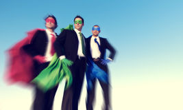 Strong Superhero Business Aspirations Confidence Success Concept Stock Images