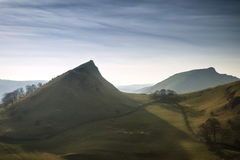 Stunning landscape of Chrome Hill and Parkhouse Hill in Peak Dis Royalty Free Stock Photo