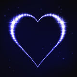 Stylized blue regular heart in style of star constellation Royalty Free Stock Photography