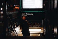 Subway entrance Royalty Free Stock Photo