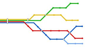 Subway schematic map Royalty Free Stock Photos