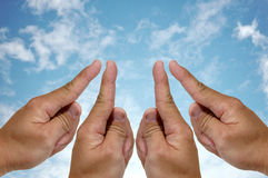 Success 4finger, number one Royalty Free Stock Images