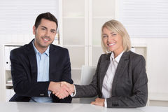 Successful business meeting with handshake: customer and client. Royalty Free Stock Photography