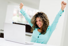 Successful business woman at the office Royalty Free Stock Image