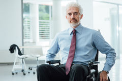 Successful businessman overcoming disability Royalty Free Stock Photos