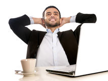 Successful Businessman relaxed and satisfied Stock Photos
