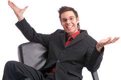 Successful deal happy person powerful manager Royalty Free Stock Image