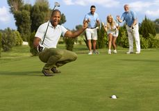 Successful putt Royalty Free Stock Images
