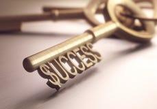 Successleutel Royalty-vrije Stock Fotografie