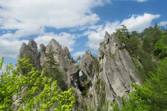 Sulov-Felsen in Slowakei Stockfotografie