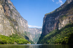 Sumidero canyon in Mexico Royalty Free Stock Photography