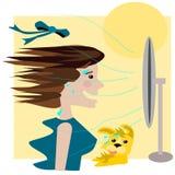 Summer fan Stock Image