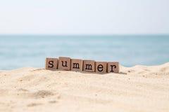Summer holiday season at sea beach Royalty Free Stock Image