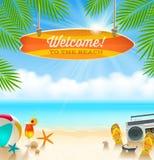 Summer holidays design Stock Images