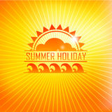 Summer holidays illustration with logo Royalty Free Stock Photography