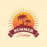 Summer Holidays Label Stock Image