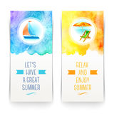Summer holidays and travel banners Stock Photo