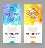 Summer holidays and travel banners Stock Photography