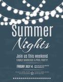 Summer night party invitation Stock Image