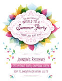 Summer Party Invitation Royalty Free Stock Images