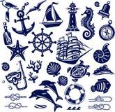 Summer sea icons Stock Photo