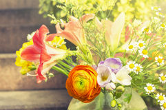Summer sunny flowers bunch,toning Stock Images