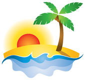 Summer Sunset Logo Stock Photography