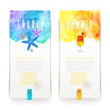 Summer and travel banners Stock Photos