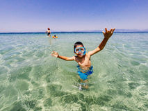 Summer vacation fun at seaside Stock Photography