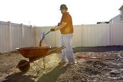 Summer Yard Work Stock Photo