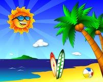 Sun and fun on the Beach Royalty Free Stock Photo