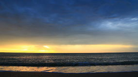Sunrise on the beach video with sound stock footage