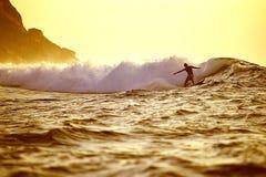 Sunrise surf Royalty Free Stock Photography